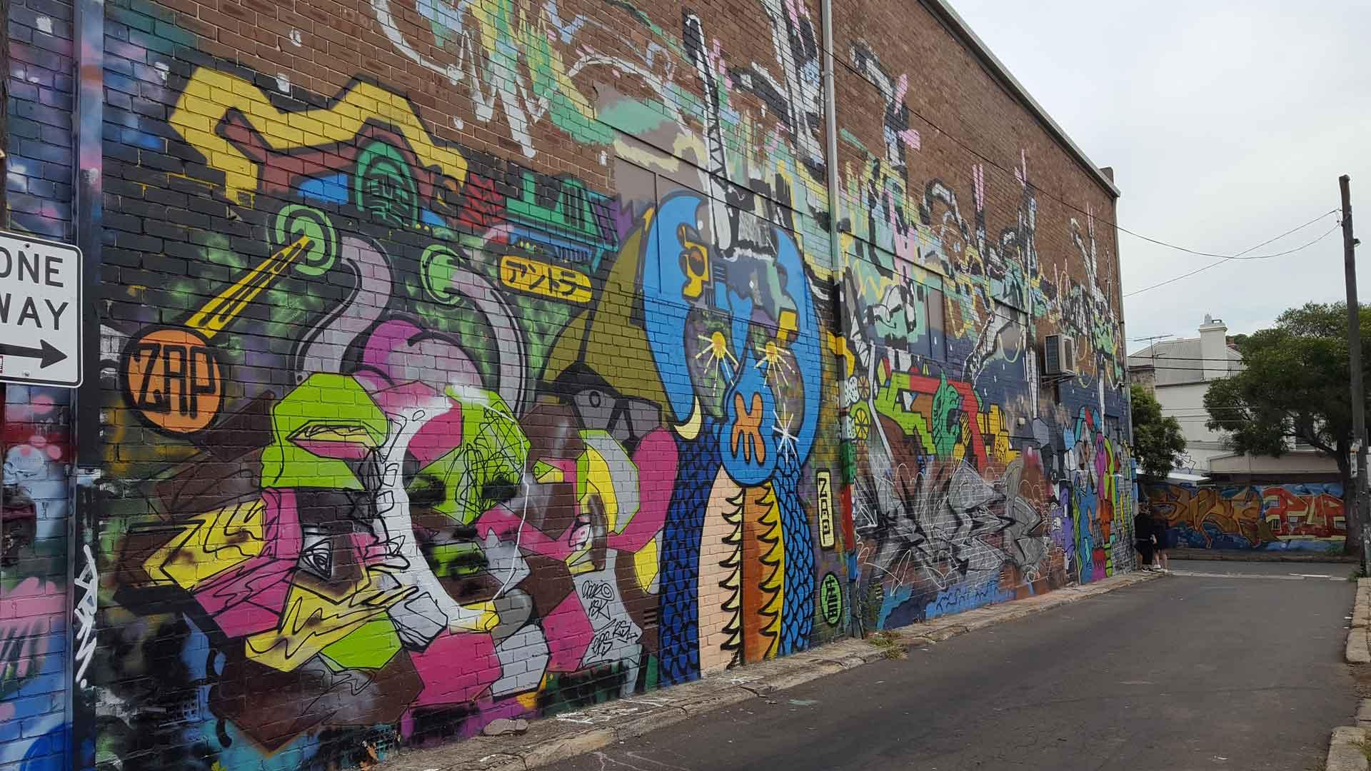 Alton Lane Denison Street Graffiti Newtown