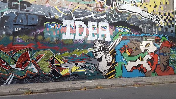 Graffiti The Hub, Newtown, Bedford Street Denison Street art