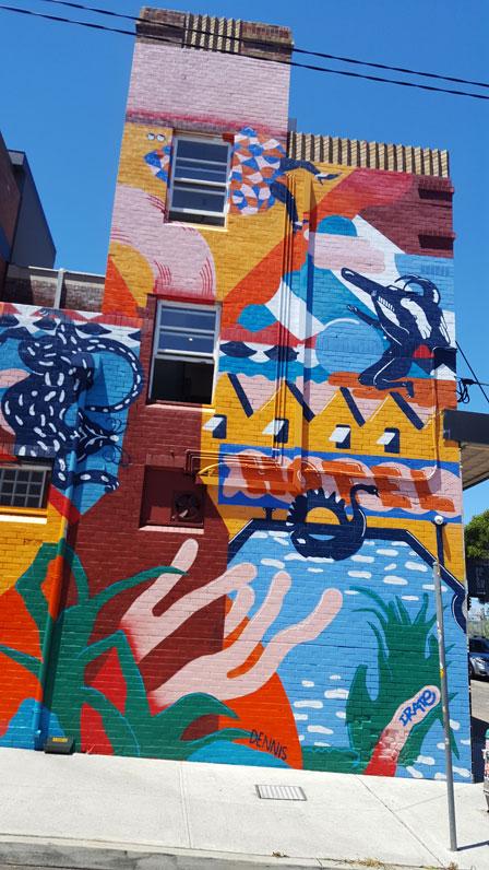 Sydney Park Hotel Mural - Andrew Dennis